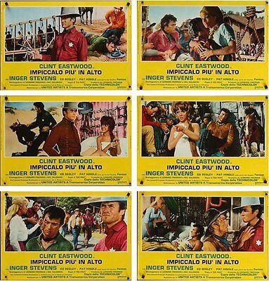 Hang Em High Italian Fotobusta Photobusta Movie Poster X6 R74 Clint Eastwood Nm