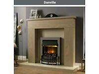 Dimplex danville chrome electrik fire brand new boxed