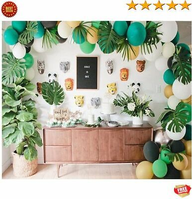 Jungle Themed Balloon Decorations (174 PC Jungle Safari Theme Birthday Party Sower Decorations balloon arch kit)