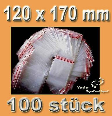 100 stück Druckverschlussbeutel / Tüten  120 x 170 mm 0,036€/Stk
