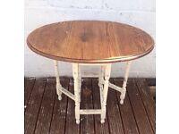 Shabby chic foldaway dining table