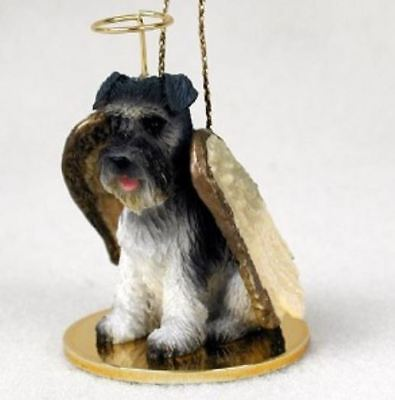 SCHNAUZER (UNCROPPED) ANGEL DOG CHRISTMAS ORNAMENT HOLIDAY Figurine Statue