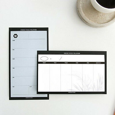 Iconic Sticky Weekly Planner Memo Note Pad 2 Lot Post-it Index Mark Office