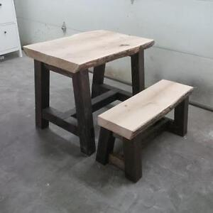 Live Edge Rustic Table or desk  with one matching bench Edmonton Edmonton Area image 1