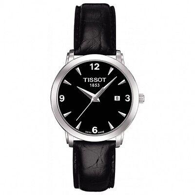 Tissot T-Classic Every Time Schwarzes Ziffernblatt Datum Damen Armbanduhr (Tissot Uhr Damen Classic)