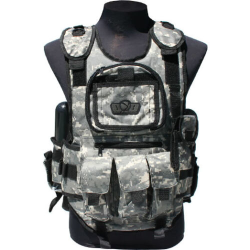 GXG Deluxe Tactical Vest Harness - ACU - Paintball