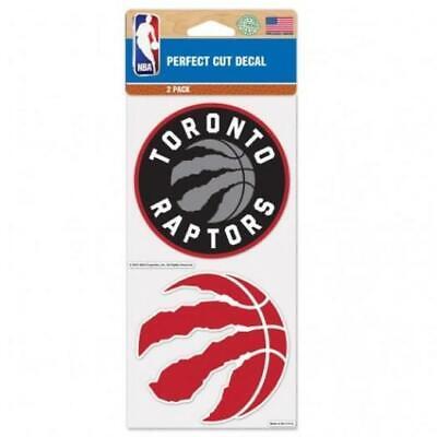 """Toronto Raptors 2 Pack 4""""x4"""" Car Decals  Decal Auto Emblem S"""