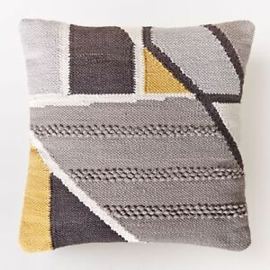 Chindi Colorblock Shag Pillow Insert West Elm Brand New