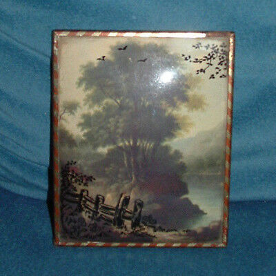 Vintage Silhouette Country Road Picture w/ Convex Glass w/ Copper Frame (Country Road Glasses Frames)