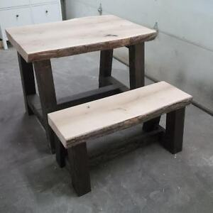 Live Edge Rustic Table or desk  with one matching bench Edmonton Edmonton Area image 2