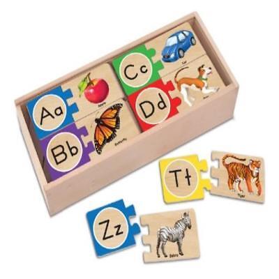 Melissa & Doug Self-Correcting Alphabet Letter Puzzles, Deve