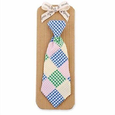 Mud Pie Baby Boy  Sunday Best Tie   Multi-Color Seersucker Patchwork  NEW