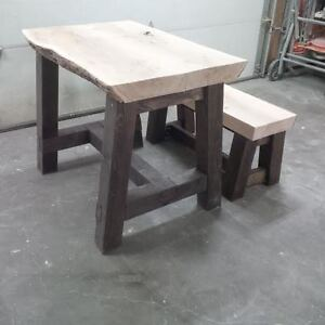 Live Edge Rustic Table or desk  with one matching bench Edmonton Edmonton Area image 4