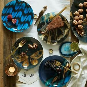 West Elm Butterfly Glass Serving Platters / Plates