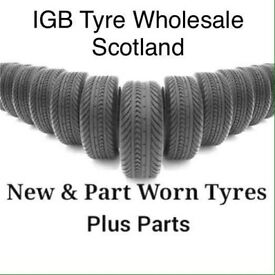 Part worn and new tyre wholesale