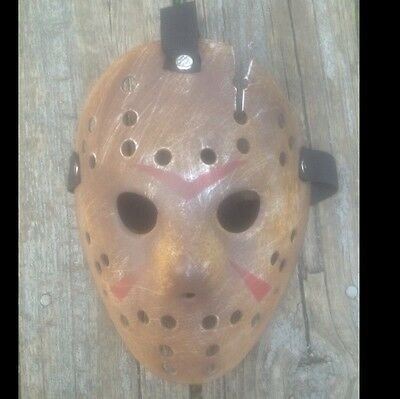 CUSTOM MADE Jason Voorhees FRIDAY THE 13th hockey mask Halloween costumes - Custom Made Halloween Masks