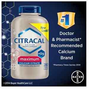 Citracal Maximum Calcium Citrate Caplets + D3 280 ct      max   630 mg