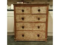 Cool antique pine chest of drawers (free local delivery)