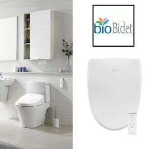 NEW BIOBIDET A8 BIDET TOILET SEAT A8 233067202 ELONGATED WHITE