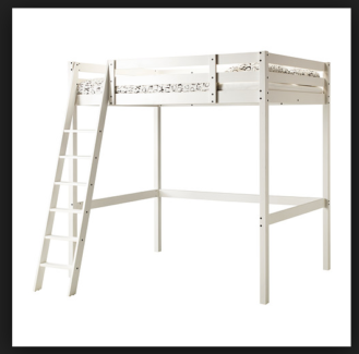 WANTED: white or pine ikea stora double loft bed