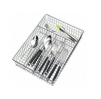 Chrome Cutlery Tray Holder Drawer Organizer Storage Kitchen Utensil Rack Large