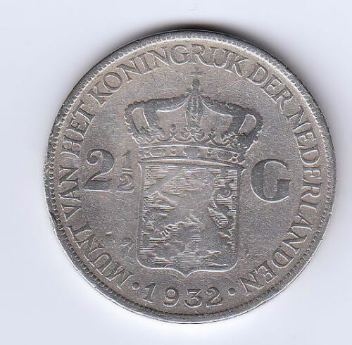 NETHERLAND COIN 2 & HALF G . DUTCH