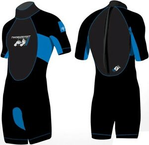 SIGNATURE TEK by TWO BARE FEET KIDS childs SHORTY WETSUIT 2 - 16
