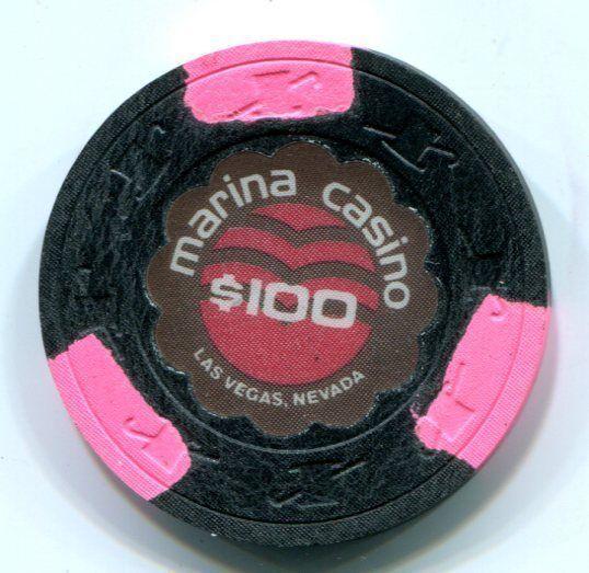 $100 Las Vegas Marina Casino Chip - Uncirculated