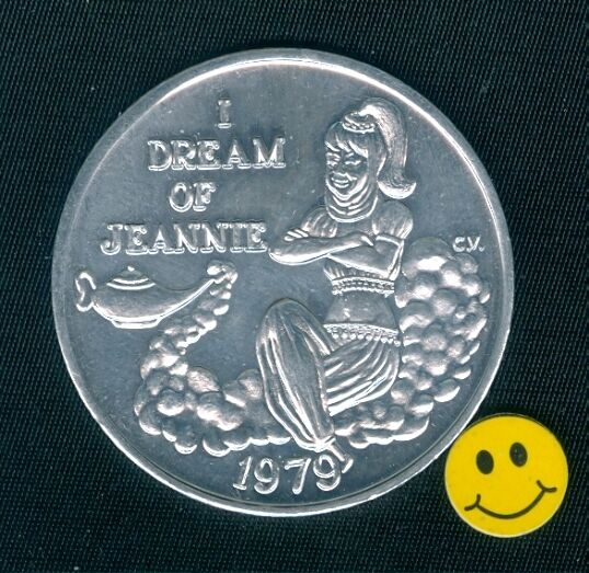 1979 I Dream Of Jeannie ( BEWITCHED ) Mardi Gras Doubloon Token