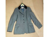 Caldane Ladies Blue Tweed Equestrian Show Competition Jacket - Size 10