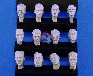 Legend 1/35 Generic Assorted Soldier Civilian Figure Heads Set (12 heads) LF0111