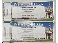 2x Ludovico Einaudi - Sun 18th June - Royal Hospital Chelsea- great seats - Block P/Q1&2