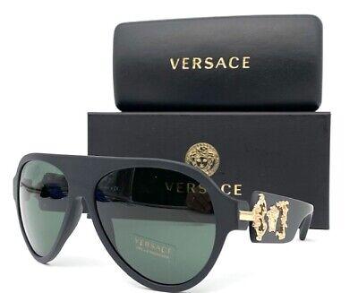 VERSACE VE4323 507971   Matte Black / Green 58mm Aviator Sunglasses