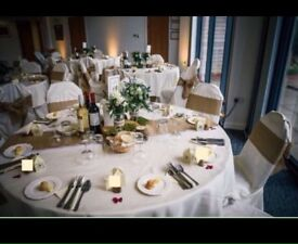 Ivory table cloths in excellent condition, ideal for wedding or party