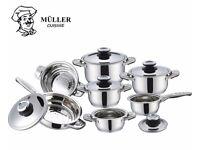 12-piece Müller Cuisine Fischner Pannenset!