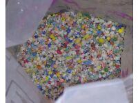 One Bag of Multi coloured Gravel for an Aquarium - 6.7 Kilo grammes .