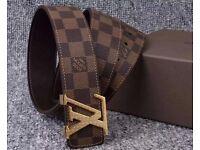 man style LV LOUIS VUITTON belt--100% leather