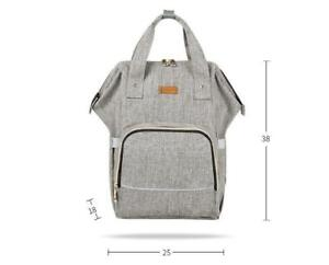 Diaper Bag Backpack for Boys and Girls Maternity Nappy Bag for Mom and Dad (Grey) - Ship Accross Canada