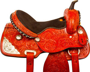 "15""16"" Western Horse Saddle + Tack Silver Barrel Pleasure Trail London Ontario image 1"