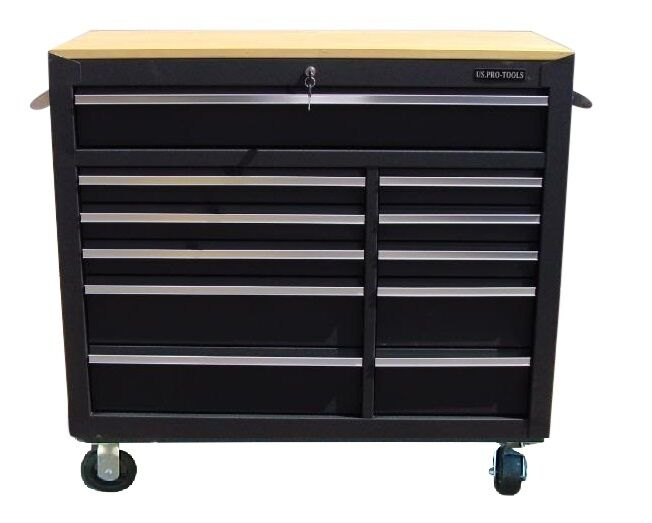 23 us pro tools black tool chest box roller cabinet for Kitchen cabinets 0 financing