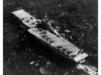 Navy Aircraft aboard Carrier USS Ranger at sea 8x10 WWII WW2 Photo 717 U.S