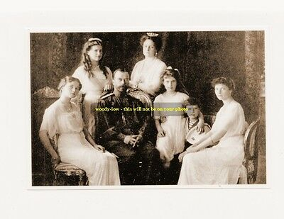 "mm375 -Czar Nicholas II  -Romanov & family in 1913 -Russia  - Royalty photo 6x4"""