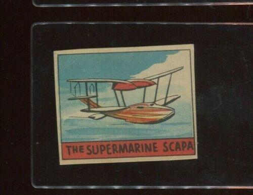 R132 Aeroplanes Strip Card #344 Supermarine Scapa