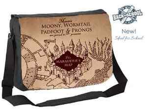HARRY POTTER - MARAUDER'S MAP INSPIRED MESSENGER BAG - NEW! - Any Name