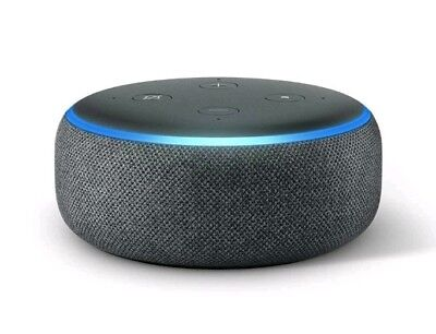 Amazon Echo Dot 3rd Generation, Smart Speaker With Alexa - Charcoal Fabric