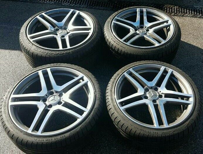 Mercedes benz 20 alloy wheels superb tyres 5x112 amg sl s for Mercedes benz tyres