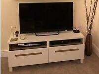White and oak TV unit from Ikea