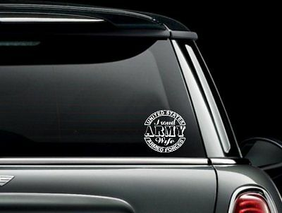 Army Wife Graphics - Proud Army Wife Seal Car Truck Graphics Window Bumper Sticker Decal US Seller