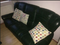 07961787092 Genuine Italian Leather Sofa Suite 3+1+1 Seater and chair