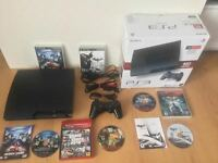 Ps3 Slim de 160gig complete + jeux Batman-Dc-GTA..-150$